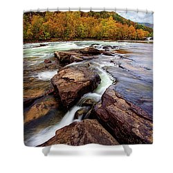 The New River At Sandstone Falls Shower Curtain