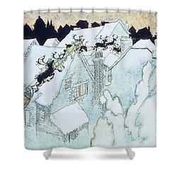 The Night Before Christmas Shower Curtain by Arthur Rackham