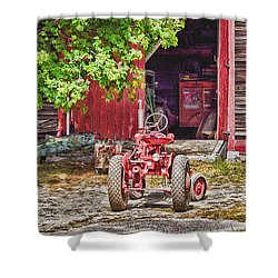 The Old Ride Shower Curtain by Tricia Marchlik