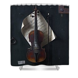 The Old Violin Shower Curtain