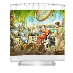 The Palace Garden Tea Party Shower Curtain by Reynold Jay