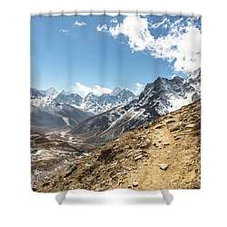 The Path To Cho La Pass In Nepal Shower Curtain