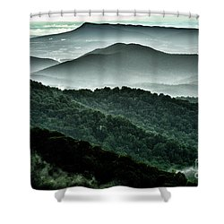 The Point Overlook Shower Curtain by Thomas R Fletcher