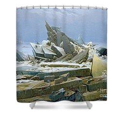 The Polar Sea Shower Curtain by Caspar David Friedrich