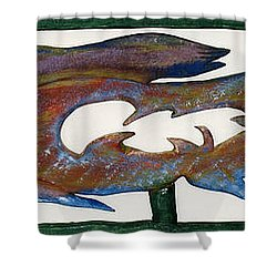 The Prozak Fish Shower Curtain by Robert Margetts