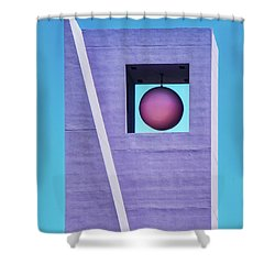 The Purple Tower At Pershing Square Shower Curtain by Gary Slawsky