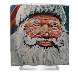 The Real Santa Shower Curtain