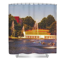 The Reflection Pond   Clemson University Shower Curtain