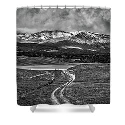 Shower Curtain featuring the photograph The Road That Leads You Home by Peter Tellone