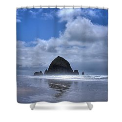 Shower Curtain featuring the photograph The Rock by David Patterson