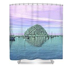 The Rock Shower Curtain by Kurt Van Wagner