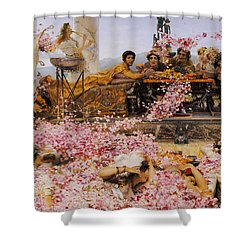 The Roses Of Heliogabalus Shower Curtain by Lawrence Alma-Tadema