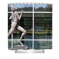 Shower Curtain featuring the photograph The Runner by AJ Schibig