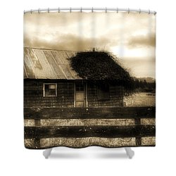 Shower Curtain featuring the photograph The Shack by Tyra OBryant