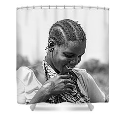 Shower Curtain featuring the photograph The Shy One by Pravine Chester