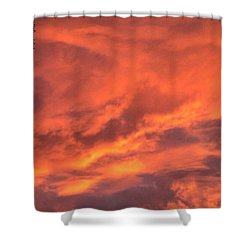 The #sky Has Been On #fire In Shower Curtain