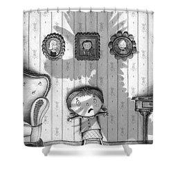 The Snarkle Beast Shower Curtain