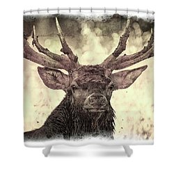 The Stag Shower Curtain
