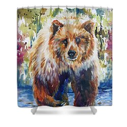 The Summer Bear Shower Curtain