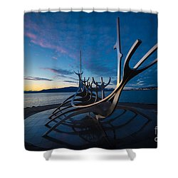 The Sun Voyager  Shower Curtain