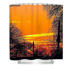 The #sunrise This #morning Was Shower Curtain