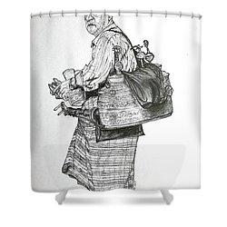 The Souss Vendor The Tea Man Shower Curtain