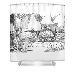 The Thingamajig Shower Curtain by Reynold Jay