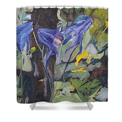 The Three Columbines  Shower Curtain by Francois Fournier
