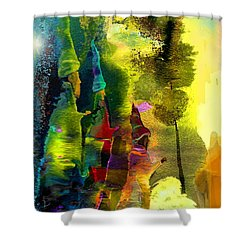 The Three Kings Shower Curtain by Miki De Goodaboom