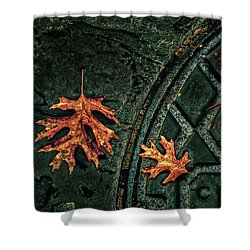 The Three Leaves Shower Curtain