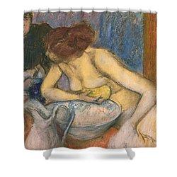 The Toilet Shower Curtain by Edgar Degas