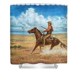 The Tracker Shower Curtain