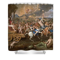 The Triumph Of Bacchus Shower Curtain by Nicolas Poussin