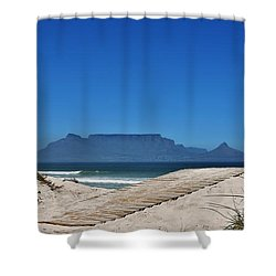 Shower Curtain featuring the photograph The View At Table Mountain by Werner Lehmann