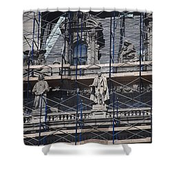 The Wiseguys Shower Curtain by Rob Hans