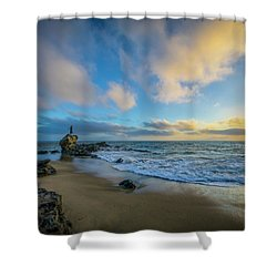 Shower Curtain featuring the photograph The Woman And Sea by Sean Foster