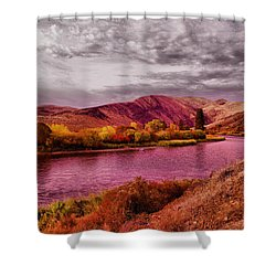 Shower Curtain featuring the photograph The Yakima River by Jeff Swan