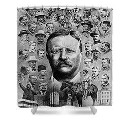 Theodore Roosevelt Shower Curtain by Granger