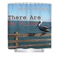 There Are No Rules Shower Curtain by Mark David Gerson