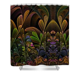 Shower Curtain featuring the digital art This Peculiar Life - Fractal Art by NirvanaBlues