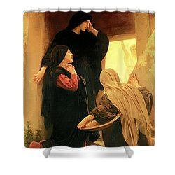 Three Marys At The Tomb Shower Curtain