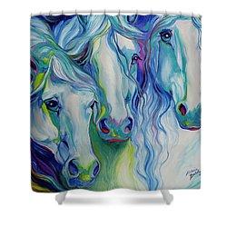 Three Spirits Equine Shower Curtain by Marcia Baldwin