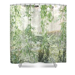 Through The Willows Shower Curtain