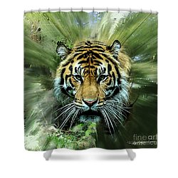 Tiger Territory Shower Curtain by Roger Lighterness