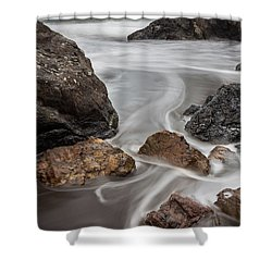 Time And Tide Shower Curtain by Mark Alder