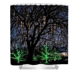 Shower Curtain featuring the photograph 'tis The Season by Eduard Moldoveanu