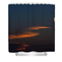 To The Moon Shower Curtain by Don Spenner