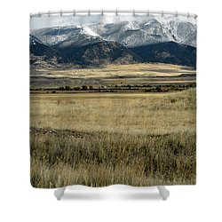 Tobacco Root Mountains Shower Curtain