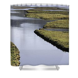Tomales Marsh Shower Curtain