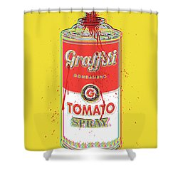 Tomato Spray Can Shower Curtain